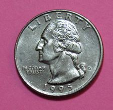 1995 D Washington Quarter Coin Value Prices, Photos & Info