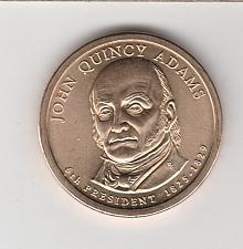 2008-P John Quincy Adams  Pres Dollar AU Condition...FREE SHIPPING...