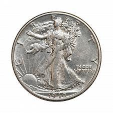 Buy 1940 S Walking Liberty Half Dollar - Gem BU / MS / UNC