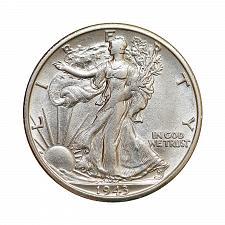 Buy 1943 S Walking Liberty Half Dollar - Choice BU / MS / UNC
