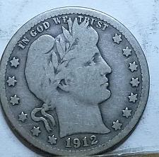 Buy 1912-S FULL VERY GOOD BARBER QUARTER (716)