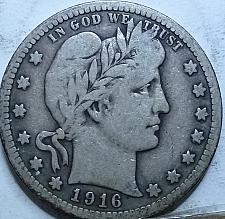 Buy 1916-P FULL FINE BARBER QUARTER (723)