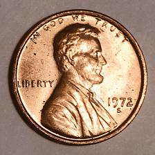 1972 S Lincoln Memorial Penny Coin Value Prices, Photos & Info