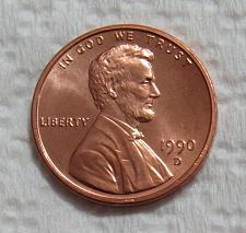 1990 D Lincoln Memorial Penny Coin Value Prices, Photos & Info