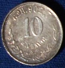 Buy 1900 GoR Mexico 10 Centavos VF+
