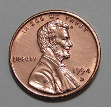 1994 D LINCOLN CENT BU FREE SHIPPING Red