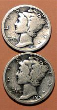 Buy 1917-S AND 1919-D MERCURY DIME LOT