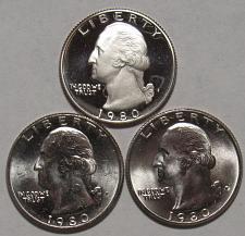 1980 P/&D Washington Quarters