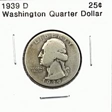 #E1112E 1939-D Washington Quarter