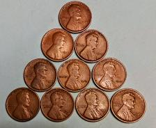Buy EARLY WHEAT CENT LOT - FOUR 1909 ONE EACH 1910-12-15-D-17-D-19-D-19-S