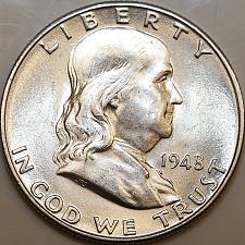 1958-D Franklin Silver Half Dollar AU Uncertified