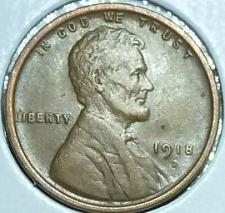 Buy 1918-D EXTRA FINE Lincoln Wheat Cent ( Z12419 )