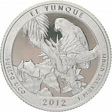 2012 S El Yunque Silver Proof Washington Quarter America The Beautiful