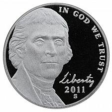 2011-S Jefferson Nickel Gem Proof Uncirculated
