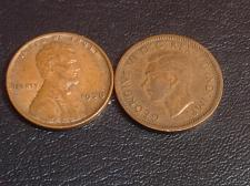 Buy 1938 Lincoln Cent & 1938 Canada 1 cent