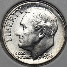 1954 Roosevelt Dime 90/% Silver Uncirculated Low Shipping