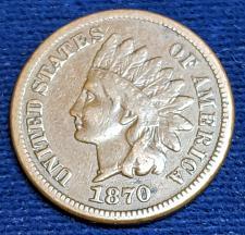 Buy 1870 FINE/FINE VERY FINE INDIAN CENT