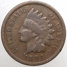 1894 Indian Head Cent in Average Circulated Condition    DUTCH AUCTION