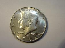 1968 D AU KENNEDY HALF DOLLAR   *40/% SILVER*