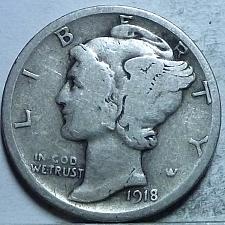 Buy 1918-D Very Good Mercury Dime   ( 250)