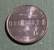 2001 P North Carolina State BU Washington Statehood Quarter in Mint Cello