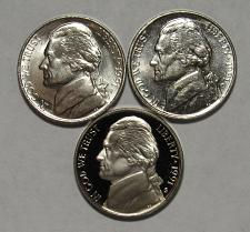 Buy 1991 P,D&S Jefferson Nickels in BU and Proof