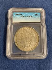 Buy 1894 O Morgan Silver Dollar ICG Graded AU53 Almost Uncirculated New Orleans
