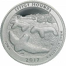 ATB Brilliant Uncirculated 2017 D Effigy Mounds National Park Quarter
