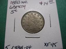 Buy 1883 No Cents XF45 Liberty Nickel.  Item: 5 L83N-04.
