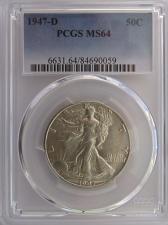 Buy 1947 D Walking Liberty Half Dollar PCGS MS64 #N1111