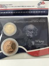 Buy 2008 Presidential $1 and First Spouse Medal Set- Martin Van Buren and Liberty