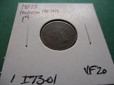 SKU#8213 1873 Indian Head Cent Open 3 Good