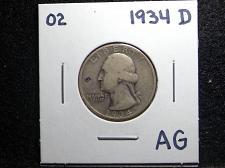 Buy 1934 D Washington Quarter