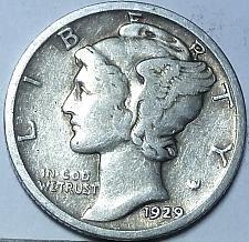 1929-D Mercury Dime VF SKU#2296