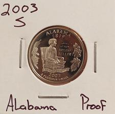 2003-S Alabama Clad Proof  States Quarter