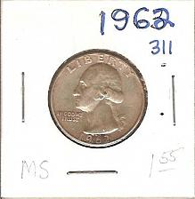 Buy 1962 Washington Quarter