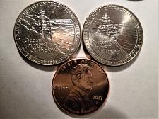 Ocean in view The joy! US 2005 Jefferson Nickel 5 Cent BU Uncirculated Coin Silver Plated Tie Tac Tack NEW O