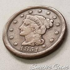 BRAIDED HAIR LARGE CENT VERY NICE CONDITION $17.78 EACH