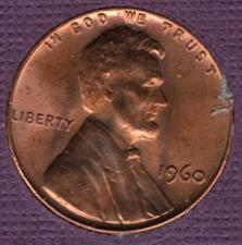 1960 UNCIRCULATED CHOICE LINCOLN CENT MEMORIAL LARGE DATE ROLL **TAKE A LQQK**