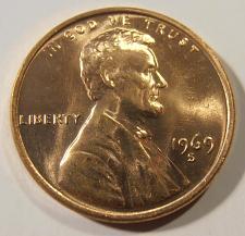 Buy 1969 S GEM BU Lincoln Cent