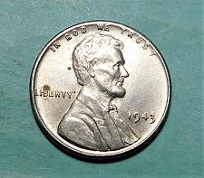1-1943-P Lincoln Steel Wheat Cent Penny 1 penny #33