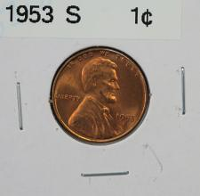 1953 pds wheat penny VF+