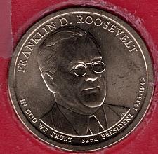 Buy 2014 P Presidential Dollars: Franklin D. Roosevelt -#8b