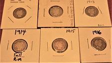 Buy (6)  1911- 1916 Run of Barber Dimes