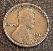 Buy 1914D VERY GOOD LINCOLN CENT