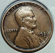 SKU#2724 1926-S Lincoln Cent XF