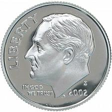 2002-S-- SILVER ---PROOF ROOSEVELT DIME/>/>/>BEAUTIFUL
