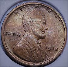1918 P Lincoln Wheat Penny Coin book filler