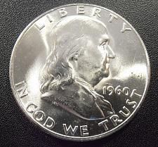 1960 D Silver Franklin Half Dollar 50/¢ Brilliant Uncirculated