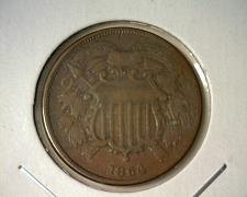 Buy 1864 TWO CENT PIECE  CIRCULATED  NICE LOOKING COIN!!